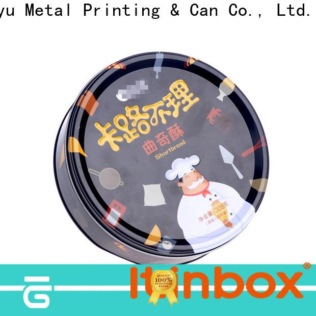 Jinyu hot-sale tin cookie box workshops for gift