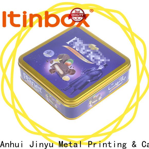 Jinyu tin chocolates experts for candy