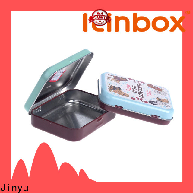 Jinyu high-quality square tin box supply for gift