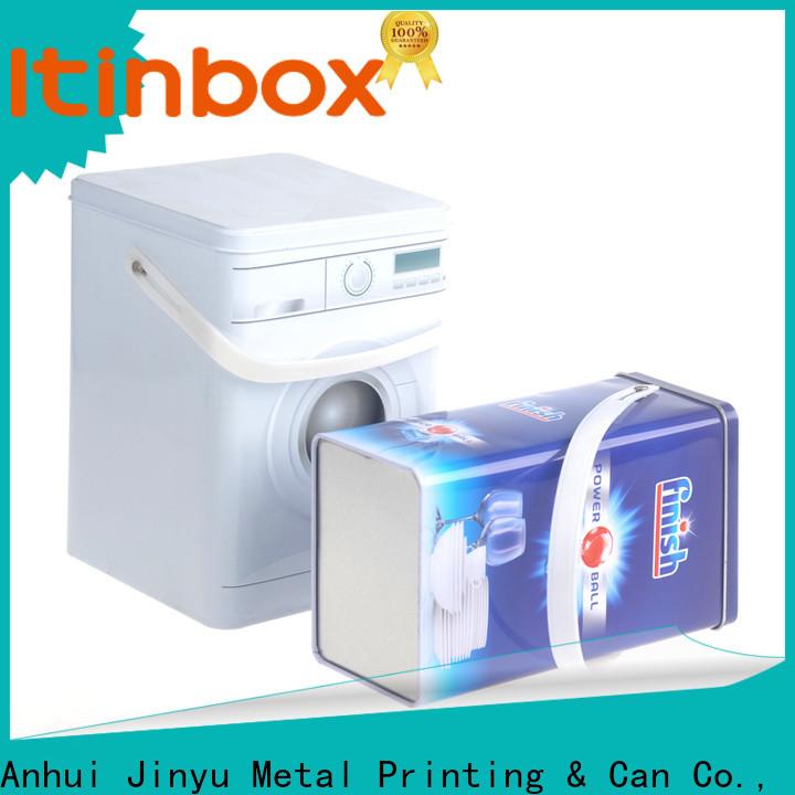Jinyu laundry powder tin China for office
