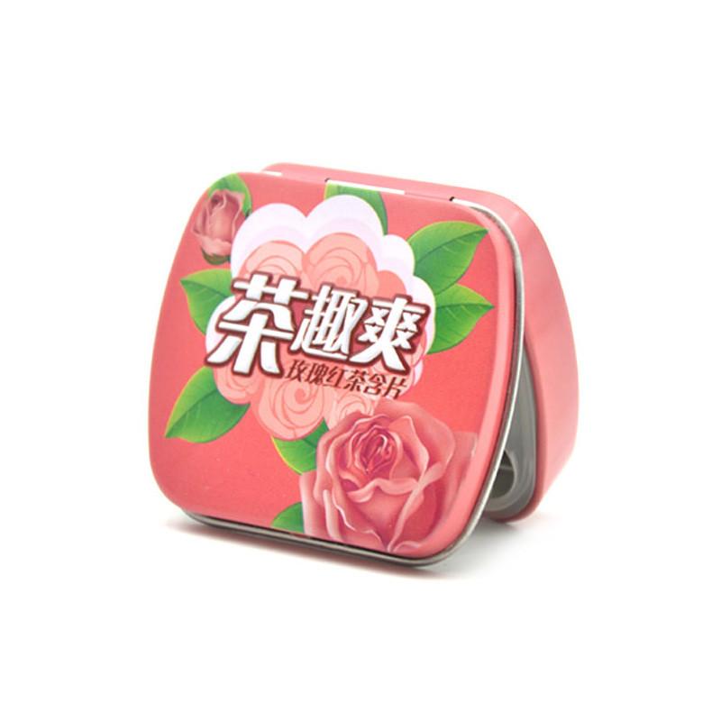 Rectangle mint tin box with hinge