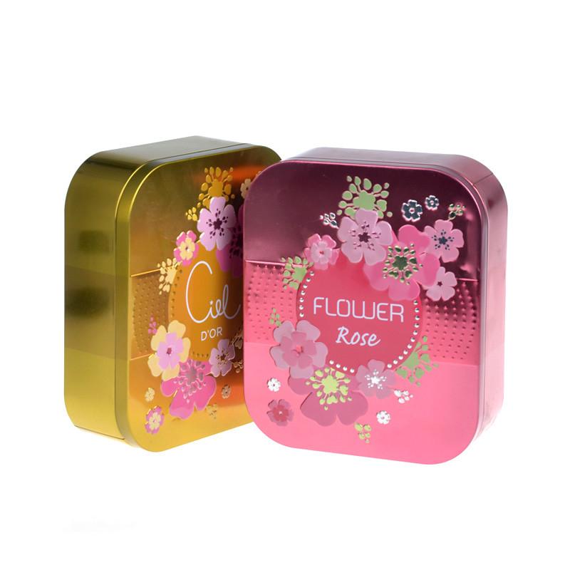 Rectangle cosmetic tin box