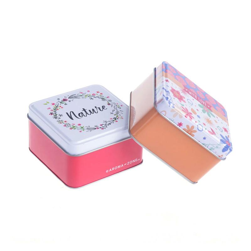 Square soap tin box