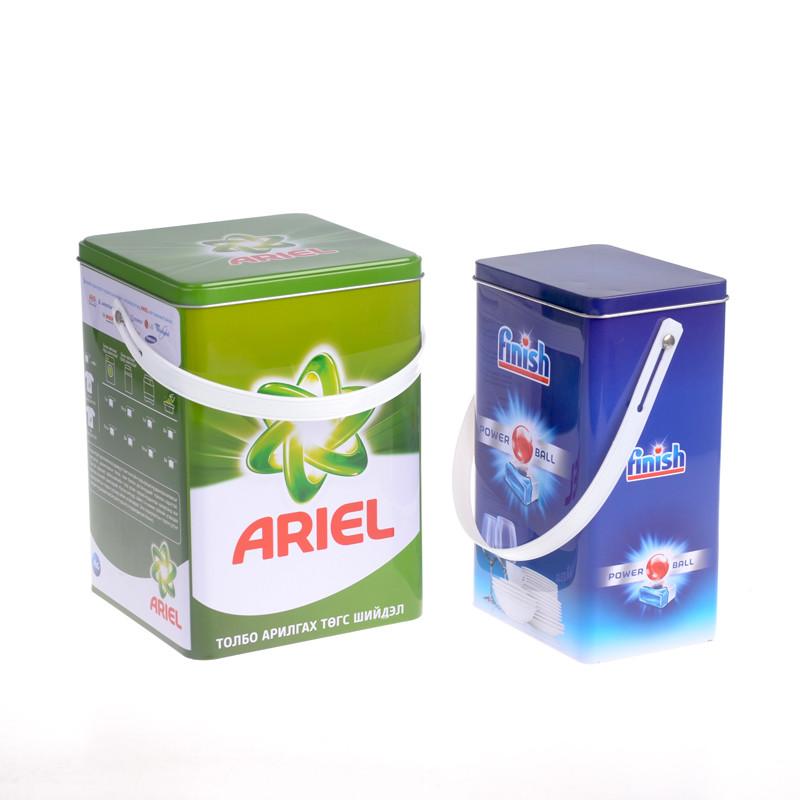Itinbox laundry detergent powder storage tin box