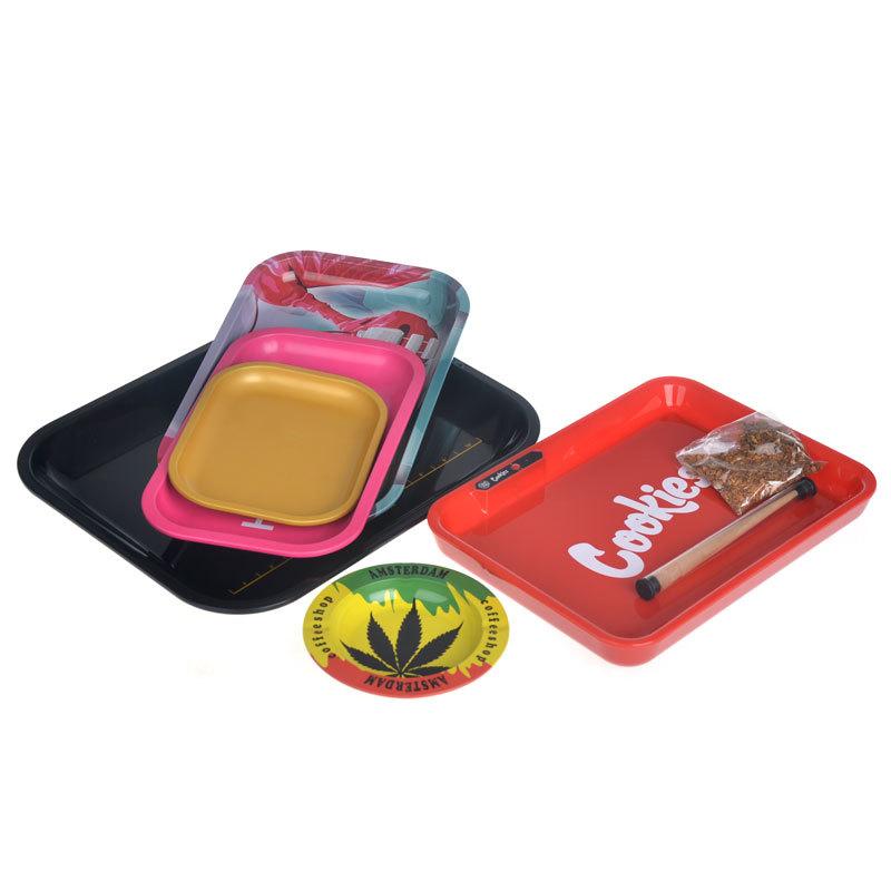 Itinbox tobacco metal tin rolling tray