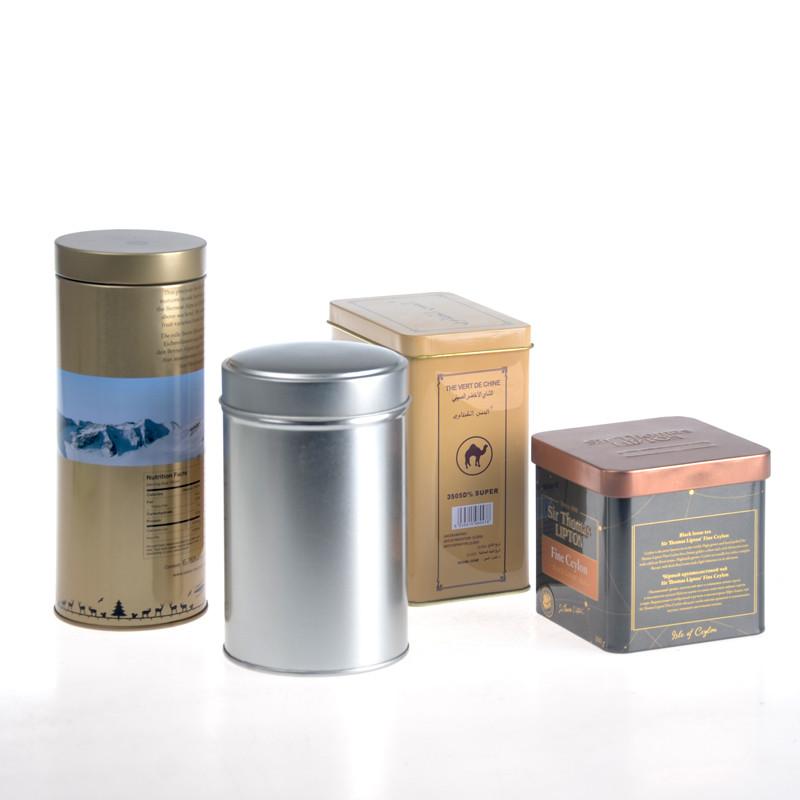 ITINBOX gold tea tin